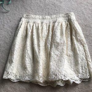 Aritzia Talula skirt lace white